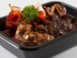 Kalvelever med bacon og champignon